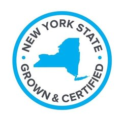 Blue New York Grown and Certified Logo